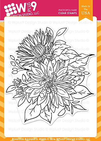 WPlus9-BeautifulBouquet-Mums-Stamp