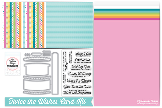Peachy Mft July Card Kit Twice The Wishes Rejoicingcrafts Personalised Birthday Cards Veneteletsinfo