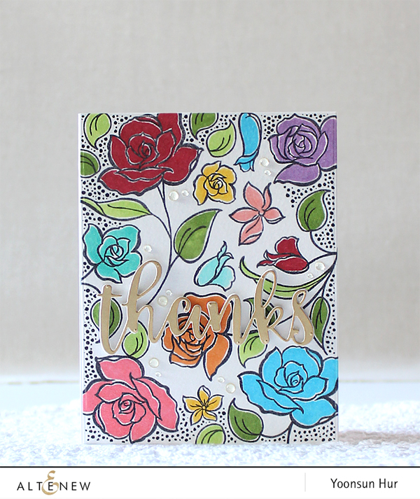 Hello Crafty Friends, Happy Weekend! Iu0027m Up On The Altenew Blog With My  Floral U201cThanksu201d Card Using The Amazing You Stamp Set And Script Words 2 Die  Set.