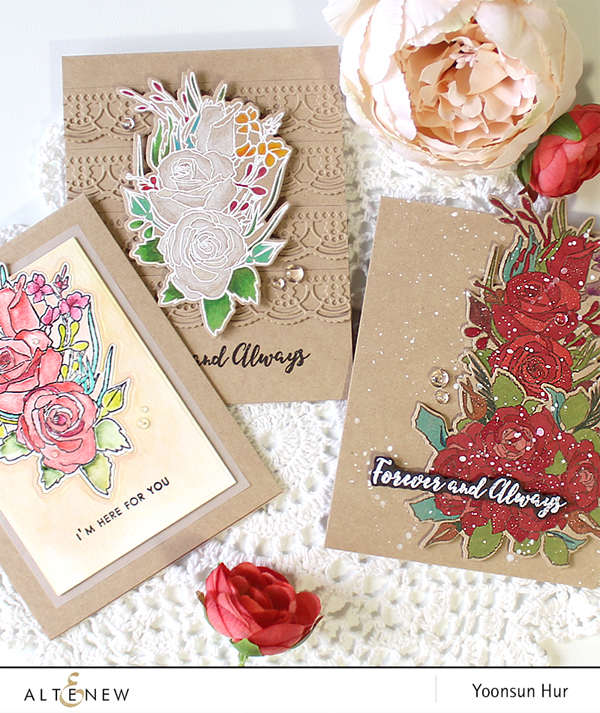 Hello Crafty Friends, I Hope You Had A Wonderful Weekend! Today I Have  Three Floral Cards To Share With You Using So Beautiful Altenew Forever And  Always ...