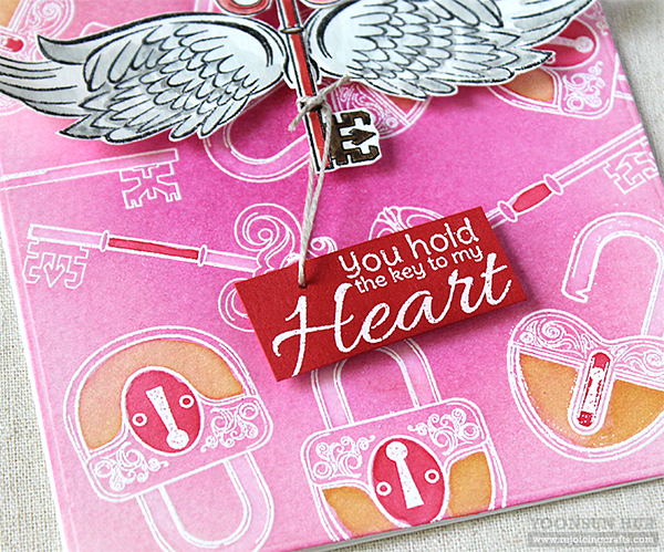 Spellbinders January 2019 Stamp of the Month – Key To My Heart